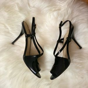 Kate Spade ♠️ Black Open toe kitten heel sandals